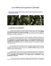 Los Militares de La Guaca en Colombia