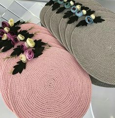 New colours in nylon rope mats. Whatsapp on 9925035369 to place orders. Riddhi siddhi collections your one stop solution for home decor,gifts decor gifting # shaadi # gifting # birthdaygift # giveaway Homemade Crafts, Diy And Crafts, Arts And Crafts, Felt Succulents, Burlap Crafts, Craft Kits, Diy Art, Diy Home Decor, Sewing Projects