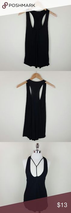 Y strap tank top Strappy racer back tank is super lightweight and great for summer  96% rayon 5% spandex #strappy #black #tank Tops Blouses