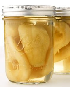 Vanilla Pears! Use a medium syrup and add a 1/2 of a vanilla bean and a stick of cinnamon (opt) to each jar. Process as you would any whole fruit.