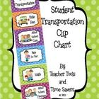 Student Transportation Clip Chart - Cute Polka Dots Do you need an organized way to keep up with how your students will be getting home from school? Check out this adorable Polka Dot Student Transportation Clip Chart!!