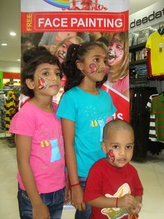 Face painting at Glitz children's day celebrations Child Day, Celebrations, Kids Fashion, Face, Painting, Child Fashion, Paintings, The Face, Junior Fashion