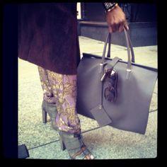 accessory Dossier: Balenciaga Bag,Alexander Wang Shoe,Hermes Cuff,June Ambrose Hi Brow frames
