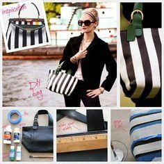 Striped Leather Purse DIY : DIY Fashion by Trinkets in Bloom