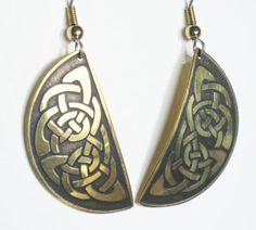 Celtic Knot Earrings Irish Jewelry Vintage by mainevintagetreasure, $18.00