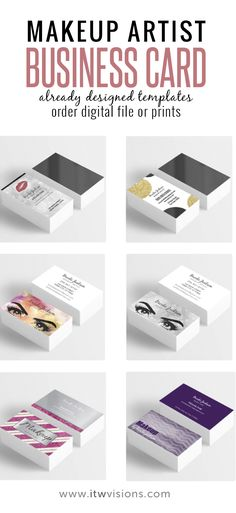 popular makeup artist business cards, many colors and designs to choose from. make your own business card with already designed templates, makeup artist, mug, lashes, lash artist, templates, instant download, makeup artist printable, makeup artist download