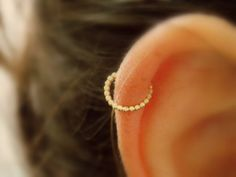 Fake Nose Ring  Fake Piercing  Non Pierced cartilage Ring
