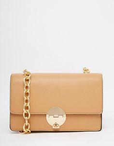 Изображение 1 из Структурированная сумка на плечо с цепочкой New Look