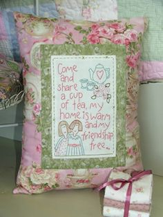 The pillow is hideous but I love the saying. Lindsay can u put that saying on something cute for mr? Thanks.