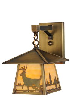8 Inch W Stillwater Deer Creek Hanging Wall Sconce - 8 Inch W Stillwater Deer Creek Hanging Wall Sconce Theme: RUSTIC MISSION LODGE ANIMALS Product Family: Stillwater Deer Creek Product Type: WALL SCONCES Product Application: WALL SCONCE Color: BEIGE ANTIQUE Bulb Type: MED Bulb Quantity: 1 Bulb Wattage: 60 Product Dimensions: 11.25H x 8.25W x 10DPackage Dimensions: NABoxed Weight: 4.5 lbsDim Weight: 17 lbsOversized Shipping Reference: NAIMPORTANT NOTE: Every Meyda Tiffany item is a unique…