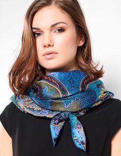 модный платок на шею 2015, как завязать видео фото