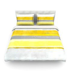 East Urban Home Lemon by CarolLynn Tice Featherweight Duvet Cover Size: King