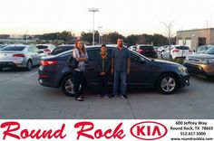 https://flic.kr/p/DruQiG | Happy Anniversary to Victor on your #Kia #Optima from Roberto Nieto at Round Rock Kia! | deliverymaxx.com/DealerReviews.aspx?DealerCode=K449