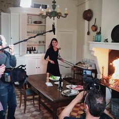 """Mimi Thorisson filming recipes from her new cookbook, """"A Kitchen in France""""."""