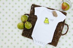 Small Bites  Baby Pear Screen Printed On Short by iLoveSmallBites, $22.00