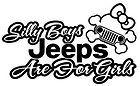 NEW Custom Screen Printed TShirt Silly Boys Jeeps  Girls S  3XL Free Shipping