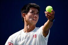 全米オープン(The US Open Tennis Championships 2014)男子シングルス決勝を控え、調整に臨む錦織圭(Kei Nishikori、2014年9月7日撮影)。(c)AFP=時事/AFPBB News