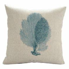 "Amazon.com - MagicPieces Cotton and Flax Ocean Park Theme Decorative Pillow Cover Case B 18"" x 18"" #ocean #beach #sea #print #blue #Voyage #pillow #homedecor #pillow $16.99"