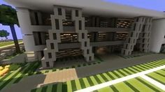 World of Keralis modern high school Modern Minecraft Houses, Minecraft City, Minecraft Construction, Cool Minecraft, Minecraft Crafts, Minecraft Designs, Minecraft Buildings, Minecraft Ideas, Minecraft Building Guide