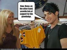 Adam Lambert discussing underwear