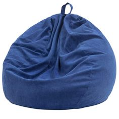 Nobildonna Stuffed Storage Bird's Nest Bean Bag Chair (No Filler) for Kids and Adults. Extra Large Beanbag Stuffed Animal Storage or Memory Foam Soft Premium Corduroy Covers (Dark Blue) #CuteGiftIdeas #Gift #LazySofa