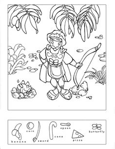 free printable hidden pictures for preschoolers goodsamaritanhiddenpuzzle - Printable 360 Degree Preschool Bible, Bible Activities, Preschool Worksheets, Sunday School Lessons, Sunday School Crafts, Hidden Pictures Printables, Hidden Picture Puzzles, Bible Coloring Pages, Kids Church