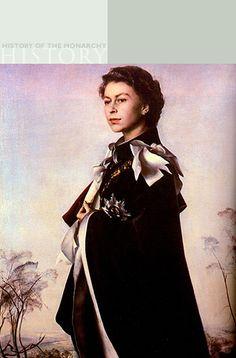 Painting of The Queen by Pietro Annigoni (Queen Elizabeth II) @Camera Press