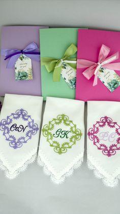 Bridal Shower Favors, Bridal Shower Decorations, Wedding Hangers, Wedding Handkerchief, Wedding Bridesmaids, Summer Wedding, Wedding Gifts, House, Cross Stitch