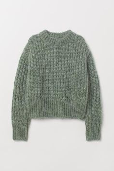 Chunky-knit jumper in a soft wool and mohair blend with a stand-up collar, dropped shoulders, long sleeves and ribbing at the cuffs and hem. Winter Sweaters, Wool Sweaters, Sweaters For Women, Chunky Sweaters, Sweater Weather, Pullover Sweaters, Vintage Sweaters, Sweater Outfits, Casual Outfits