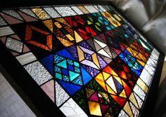 stained glass window large sampler van leibenaller op Etsy