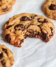 Chocolate Chip Cookies Recept, Baking Recipes, Dessert Recipes, Desserts, American Cookie, Sweet Pastries, Yummy Food, Tasty, Something Sweet