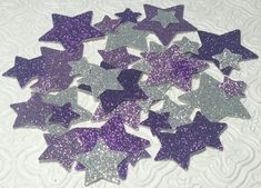 Twinkle Twinkle Little Star silver and lavender confetti die cuts birthday party baby shower gender reveal invitations table decoration Sofia Disney party decor Rapunzel Tangled decorations wedding retirement night wishes sky bachelorette bridal sweet sixteen quinceanera engagement graduation party