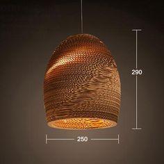 Luminaria Corrugated Board Pendant Light – Tudo And Co Club Lighting, Art Deco Lighting, Lighting Ideas, Room Lights, Hanging Lights, Ceiling Lights, Vintage Pendant Lighting, Modern Pendant Light, Bedroom Bar