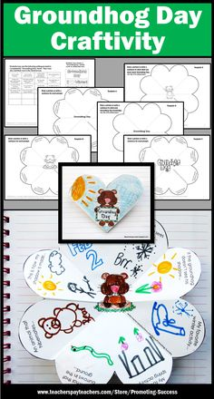 Foldable Groundhog Day Craft for Kids: Students may also put them in an interactive notebook. This printable craftivity works well for many grade levels, 1st grade, 2nd grade, 3rd grade, 4th grade, 5th grade, ESL, speech and language therapy or special education.