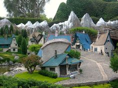 Pinocchio's Village and Geppetto's Workshop . Storybook Land Canal Boats .