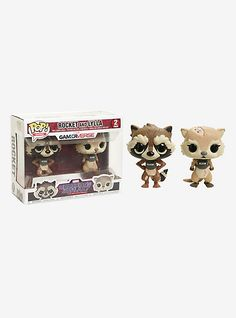 Funko Marvel Guardians Of The Galaxy: The Telltale Series Pop! Games Rocket And Lylla Vinyl Bobble-Head Set,