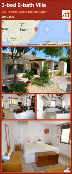 3-bed 2-bath Villa in Els Poblets, Costa Blanca, Spain ►€210,000 #PropertyForSaleInSpain