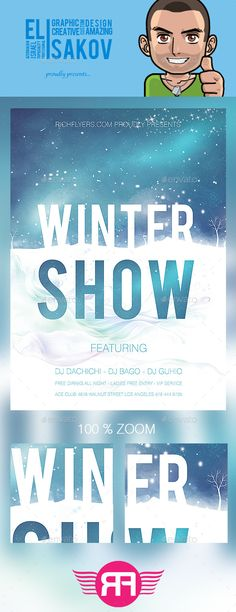 Winter Party - Free Club And Party Flyer Psd Template
