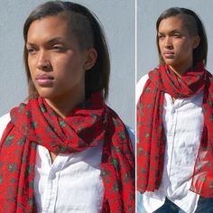 Katamanso in rich red has a West African wax print pattern of chile peppers! Available at http://nanayawdesigns.com/