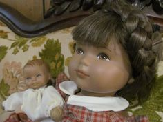LUCIE and BABY Original Heidi Ott Doll  Limited Edition Human Hair Cloth Body Made in Switzerland