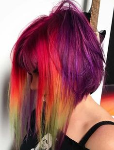 58 Amazing Pulp Riot Long Bob Hair Color Trends. Pulp Riot is one of those hair colors which are much famous among ladies in these days. There are different types of hair lengths which can be convert into stunning look by wear the beautiful Pulp Riot hair colors. Visit here the amazing ideas of Pulp Riot lob hair color ideas for 2018.