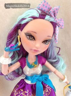 "OOAK Custom Monster High Ever After High Repaint Doll ""Maddie Hatter"""
