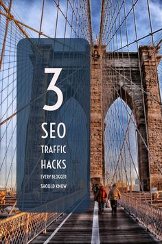 Here are the 3 best SEO Traffic Hacks I know that can push every blog to the top of Google's result pages! search engine optimization, seo hacks, blog seo, seo for bloggers, seo traffic, search traffic