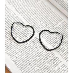 Heart Hoop Earrings from #YesStyle <3 Petit et Belle YesStyle.co.uk