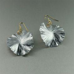 Aluminum Lily Pad Earrings