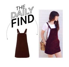 """Daily Find: Topshop Cord Pinafore Dress"" by polyvore-editorial ❤ liked on Polyvore featuring Topshop and DailyFind"