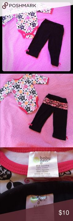 NWOT 2 Piece Floral Outfit Washed but never wore...my daughter outgrew it. My loss is your gain. Baby Gear Matching Sets