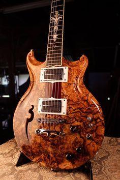 Spalted Maple Burl Walker electric guitar