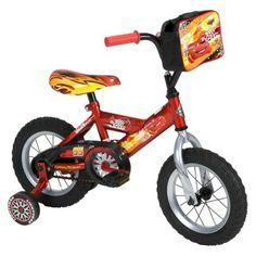 "Cars 12"" Boys Bike With Pit Crew Bag"