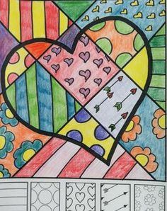 Valentine's Day interactive coloring sheets. This set of pop art coloring sheets features a variety of Valentine's Day images that would be a great accompaniment to your lessons. There are 8 designs included in two different styles.This set is but one of my collection of interactive coloring sheets.